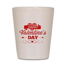 Happy Valentine's Day Shot Glass