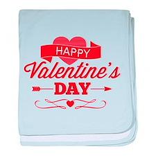 Happy Valentine's Day baby blanket
