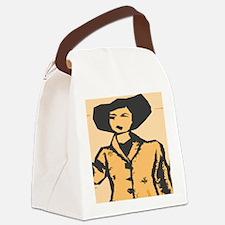 Cartoon shapes Canvas Lunch Bag