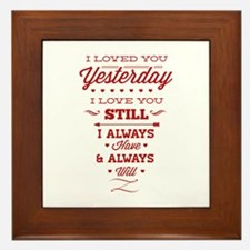 I Love You Framed Tile