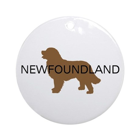 Newfoundland Dog Ornament (Round)