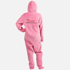 Level of Sarcasm Footed Pajamas
