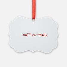 X Mas Formula Ornament