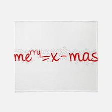 X Mas Formula Throw Blanket