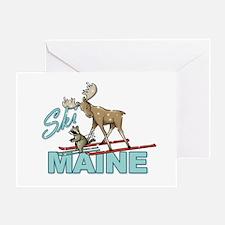Ski Maine Greeting Card
