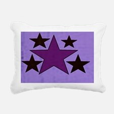 Star and Design Rectangular Canvas Pillow