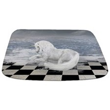 Unicorn In Surreal Seascape Bathmat