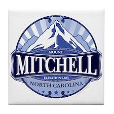 Mount Mitchell North Carolina Tile Coaster