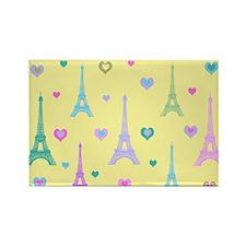 Trendy I Love Paris Rectangle Magnet (10 pack)