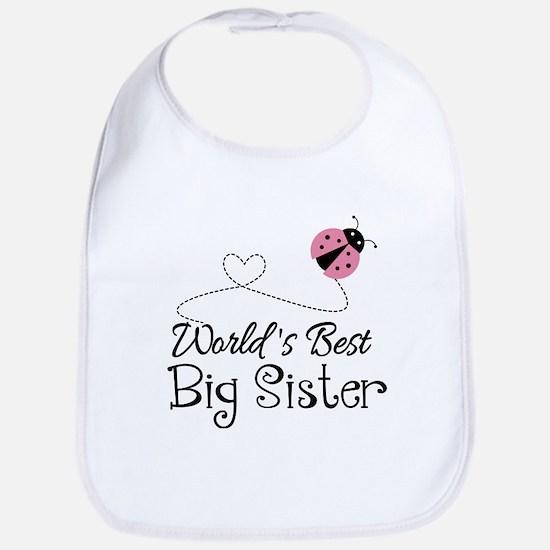 Worlds Best Big Sister Bib