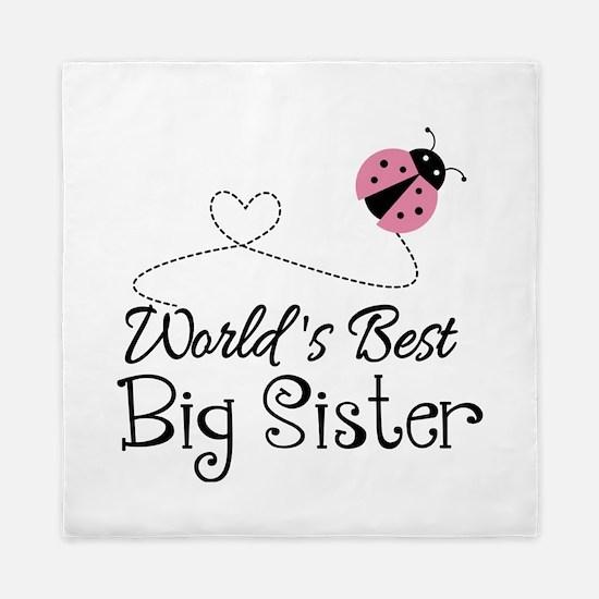 Worlds Best Big Sister Queen Duvet