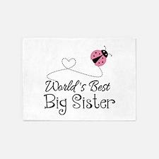 Worlds Best Big Sister 5'x7'Area Rug