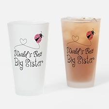 Worlds Best Big Sister Drinking Glass