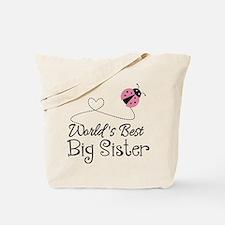 Worlds Best Big Sister Tote Bag