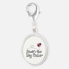 Worlds Best Big Sister Silver Oval Charm