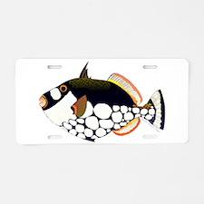 Clown Triggerfish Aluminum License Plate