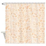 Beige and orange Shower Curtains