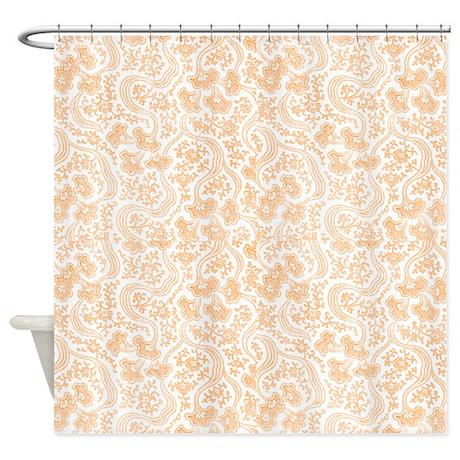 Peach Shower Curtains Cafepress