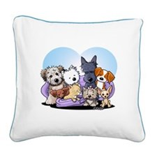 The Littlest Souls Square Canvas Pillow