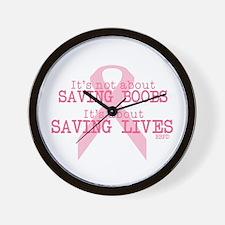 Save Lives Not Boobs Wall Clock
