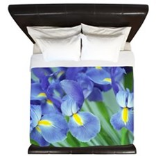 Spring Purple Irises Photo King Duvet