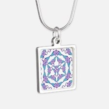 Tribal Manta Madness Silver Square Necklace