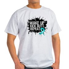 Ovarian Cancer Kick Butt T-Shirt