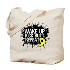 Sarcoma Cancer Kick Butt Tote Bag