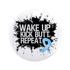 "Prostate Cancer Kick Butt 3.5"" Button (100 pack)"