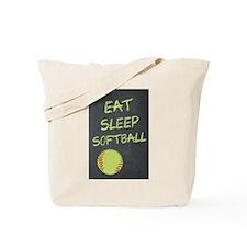 eat, sleep, softball Tote Bag
