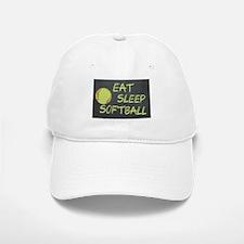 eat, sleep, softball Baseball Baseball Cap