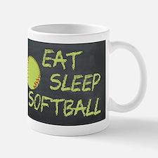eat, sleep, softball Mug