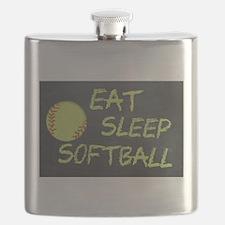 eat, sleep, softball Flask