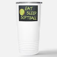 eat, sleep, softball Stainless Steel Travel Mug