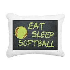 eat, sleep, softball Rectangular Canvas Pillow