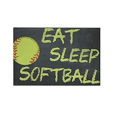 eat, sleep, softball Rectangle Magnet