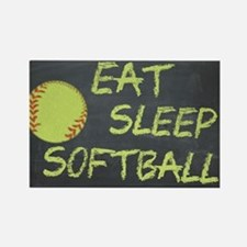 eat, sleep, softball Rectangle Magnet