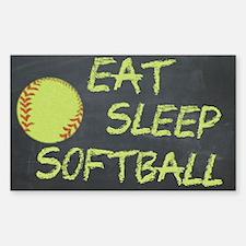 eat, sleep, softball Decal