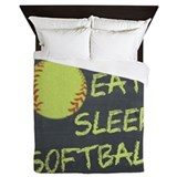 Fastpitch softball Duvet Covers