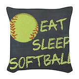 Softball Woven Pillows