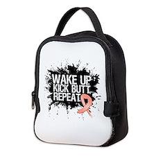 Uterine Cancer Kick Butt Neoprene Lunch Bag