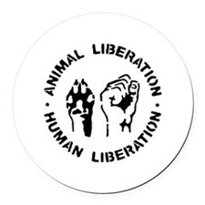 Cute Animal rights Round Car Magnet