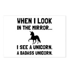 Badass Unicorn Postcards (Package of 8)