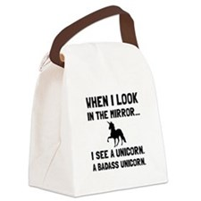 Badass Unicorn Canvas Lunch Bag