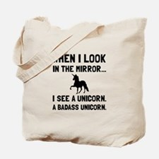 Badass Unicorn Tote Bag