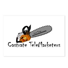 Castrate TeleMarketers Postcards (8)