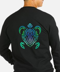 Tribal Turtle Long Sleeve T-Shirt