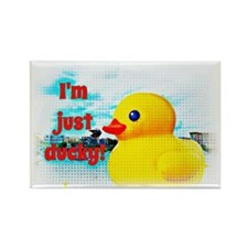 Just Ducky Rectangle Magnet