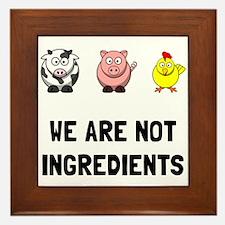 Not Ingredients Framed Tile