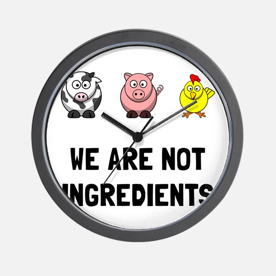 Not Ingredients Wall Clock